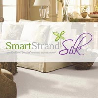 Mohawk's SmartStrand® Silk Forever Clean carpet is luxuriously soft to the touch with superior durability and permanent, inherent stain resistance.